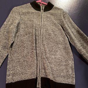 Alfani Sweater Zip Up